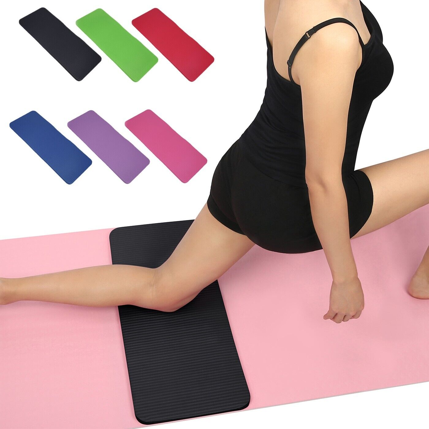 Yoga Knee Pad Cushion  Anti-Slip 15mm Thick Workout Exercise