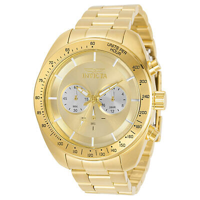 Invicta Men's Watch Speedway Chronograph Yellow Gold Steel Bracelet 30789