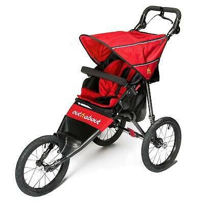 Out n About Nipper Sport V4 Jogger (Karneval Rot) Laufen Buggy