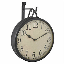 Park Designs Antique Style Hanging Clock With Hanging Bracket