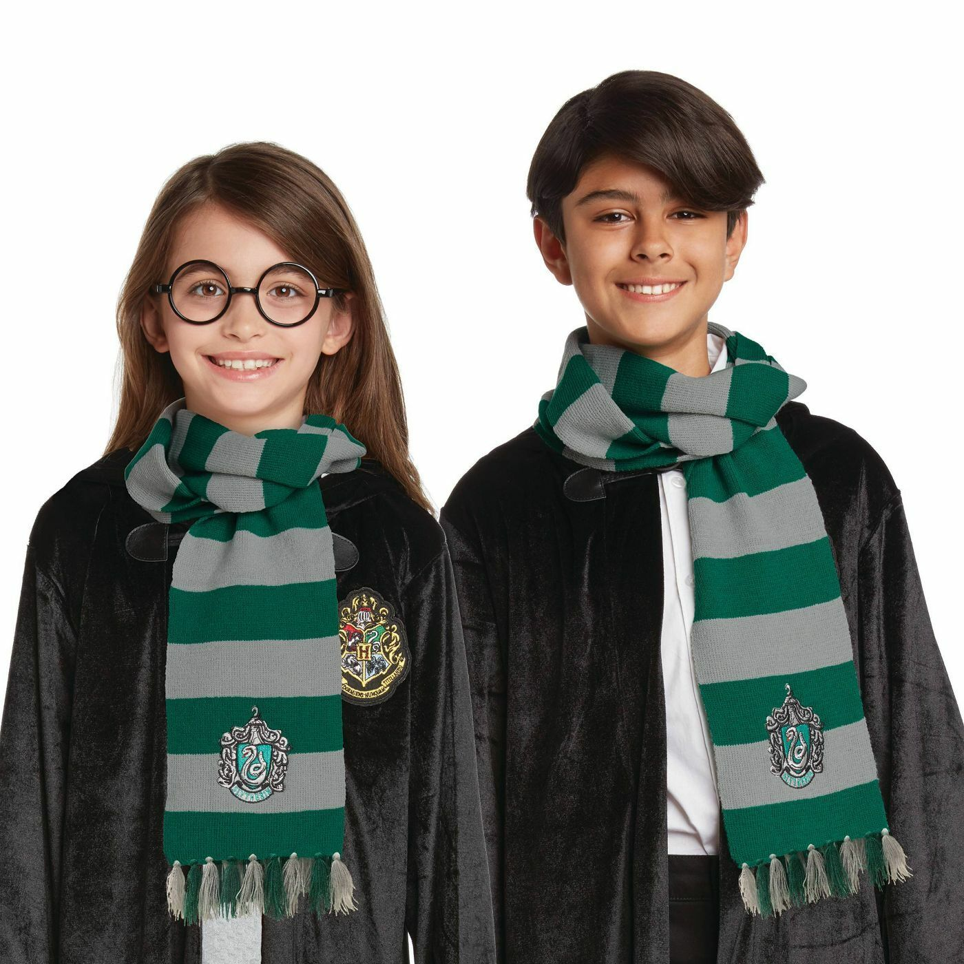 Official Licensed Harry Potter Slytherin Scarf Costume for Kid Holloween Cosplay Collectibles