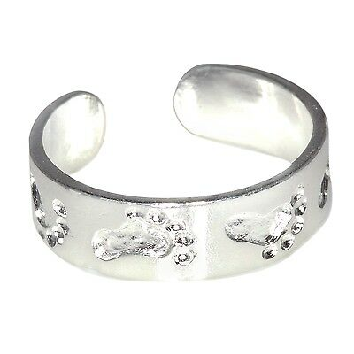New .925 Sterling Silver  Feet Toe Ring adjustable size | Made In USA