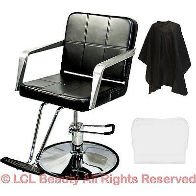 Professional Black Hydraulic Barber Chair Styling Salon S...