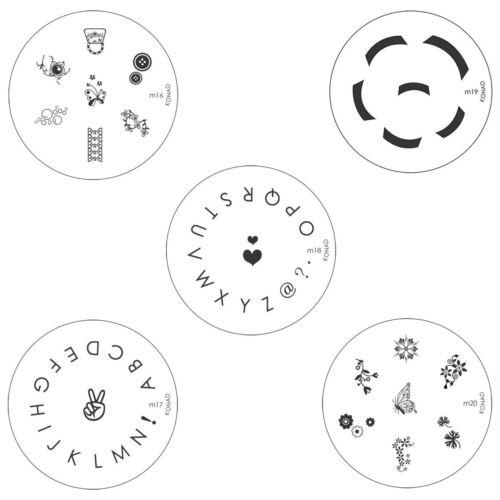 Konad Nail Art Circle Image Plate M16 M17 M18 M19 M20 Diy Ebay