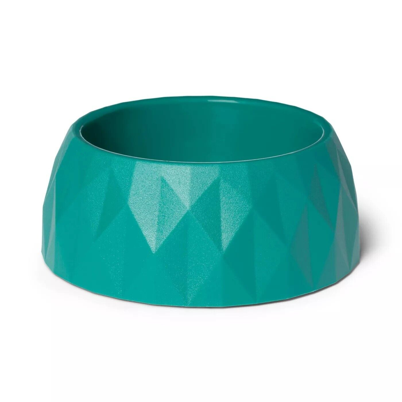 Pet Food & Drink Bowl Diamond Faceted 4 cup Dog Dish Teal NEW by Boots & Barkley