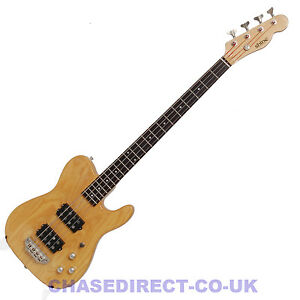 SHINE-SBA-724-Electric-Bass-Guitar-Tele-Style-Humbucker-Pickups-Natural