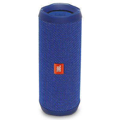 JBL Flip 4 Portable Waterproof Bluetooth Speaker (Blue)
