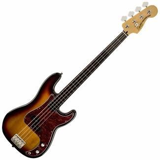 Electric Fretless Bass Vint' Mod 3 Colour Sunburst FENDER  Squier