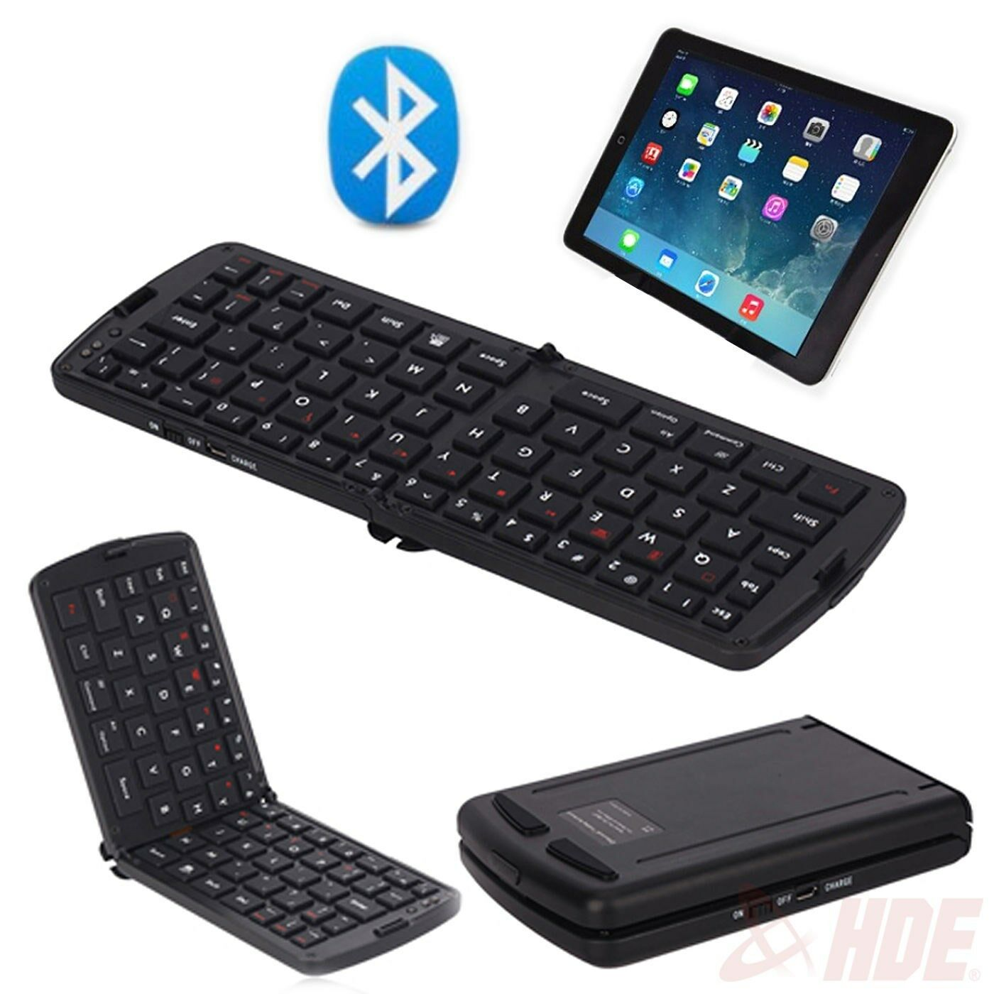 Bluetooth Keyboard For Ipad And Android: Folding Mini Bluetooth Wireless Keyboard Pad For IPhone IPad-Android Tablet PC