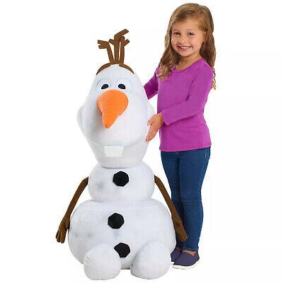 "Disney Frozen 2 Olaf Stuffed Plush Doll Big Large Giant Jumbo Toy Snowflake 32"""