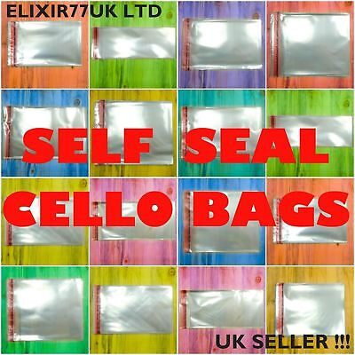 A3 A4 C4 A5 C5 A6 C6 C7 DL SELF SEAL CLEAR CELLO CARD BAGS CELLOPHANE PARTY BAG
