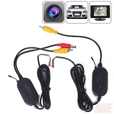 - 2.4Ghz Wireless Rear View Video Transmitter & Receiver For Car Camera Monitor