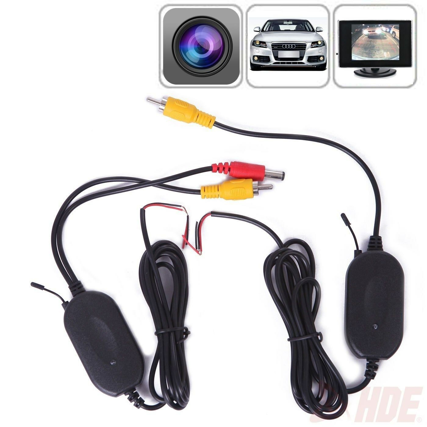 2.4G Wireless RCA Transmitter & Reciever for Car Rear View C