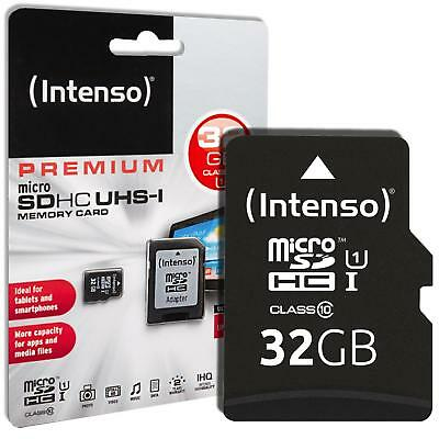 Intenso Premium 32 GB Micro SD SDHC Speicherkarte + Adapter Class 10 Card Karte