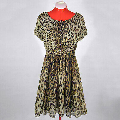 DOLCE & GABBANA NEW Silk Leopard Dress Size 42 8 M Official Price (Dolce And Gabbana Official)