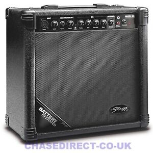 Stagg MOB 20 Battery Powered Guitar Amplifier For Busking 20 Watt Mic Input