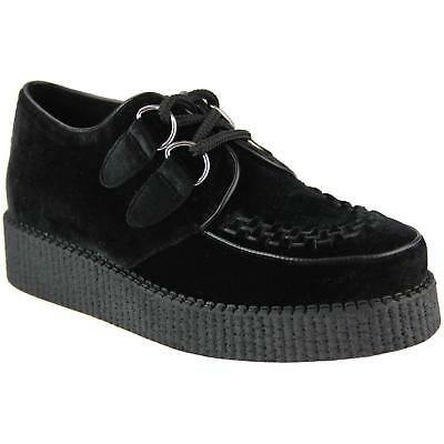 NEW MADCAP MENS MOD ROCKABILLY 50s MODS BLACK VELVET CREEPERS SHOES RUMBLE 32404](50s Shoes Mens)