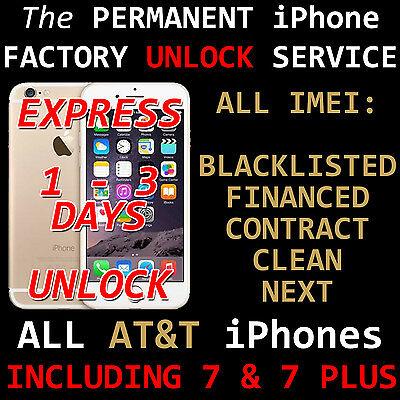 AT&T Premium Unlock Code Service For ALL IMEI iPhone 7+ 7 6s+ 6s SE 6+ 6 5s 5c 5