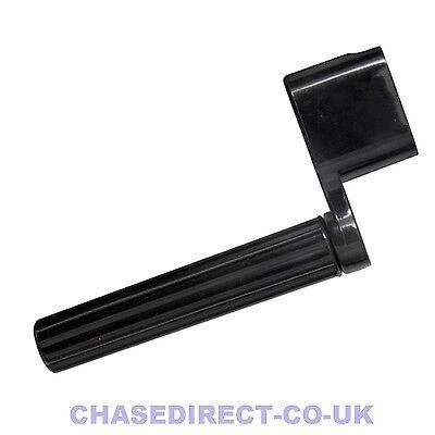 Translucent Black Guitar String Peg Winder With Integrated Bridge Pin Puller