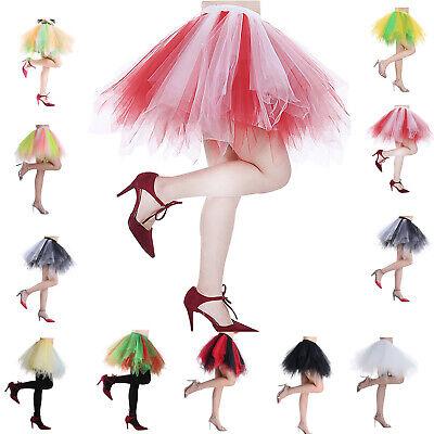 Women Mini Tutu Skirt Short Cocktail Party Skirt Petticoat Underskirt 3 Layers - Mini Petticoat