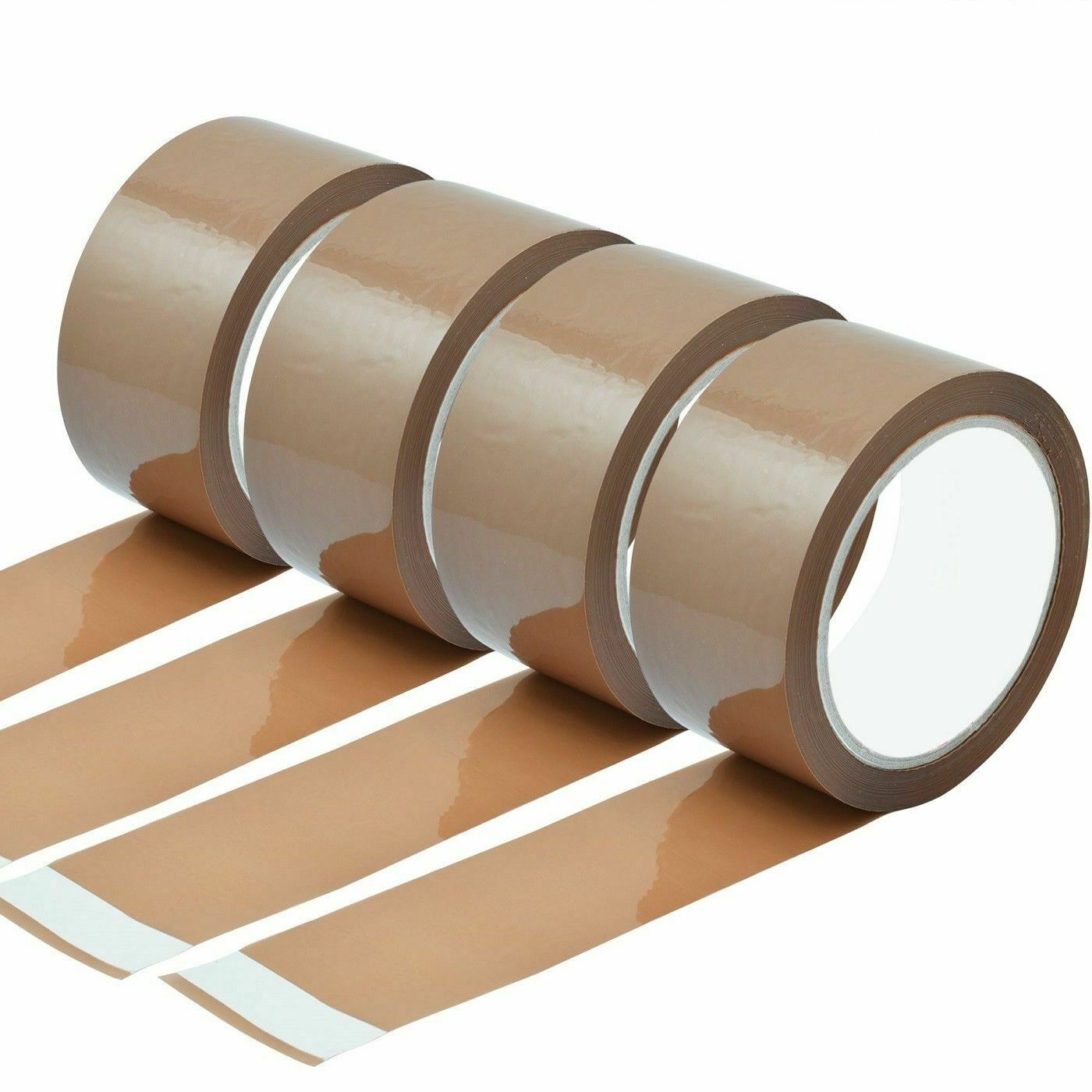 6 Pack Brown Packing Parcel Tape Packaging Sellotape Sealing 132m Roll