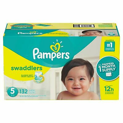 Pampers 80318696 Swaddlers Disposable Diapers One Month Supply, Size: 5 (132