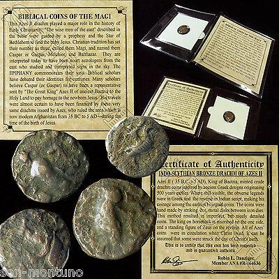 1  Ancient  Biblical Coin Of The Magi  Persian Roman Bible Greek Jesus 35Bc 5Ad