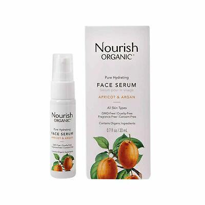 Nourish Organic Apricot & Argan Face Serum - Pure Hydrating .7 oz.