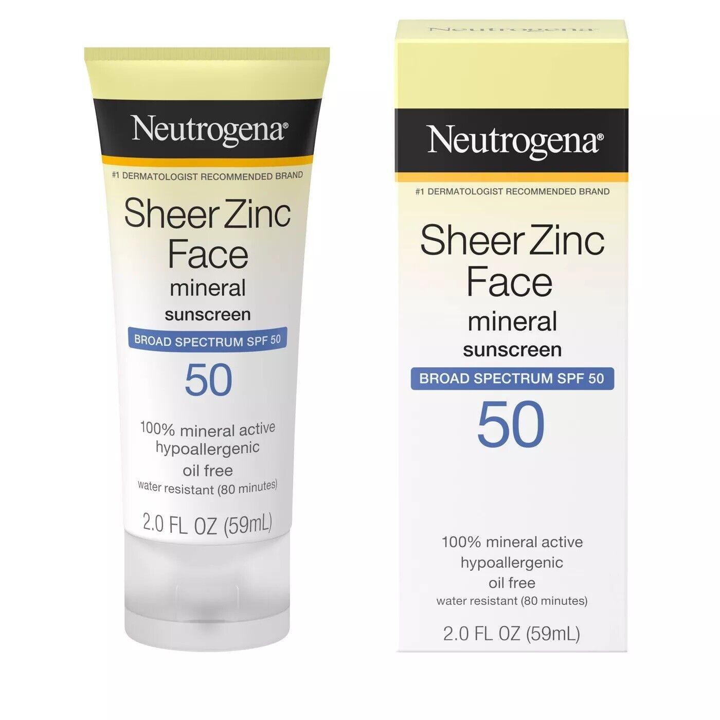 Neutrogena Sheer Zinc Face Dry Touch Sunscreen Broad Spectru