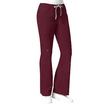 Maevn Blossom 9202 Wine Stretch Multi Pocket Cargo Scrub Pants Sizes XS to 2XL Cargo Pocket Scrub Pants Wine