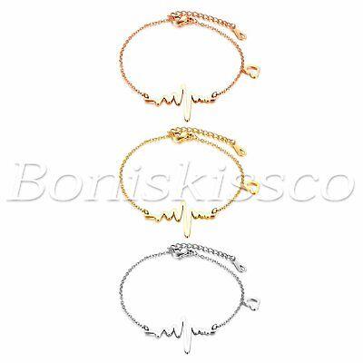 Nurses Day Gifts (Women's Electrocardiogram Heartbeat ECG EKG Bracelet Valentine's Nurse Day)