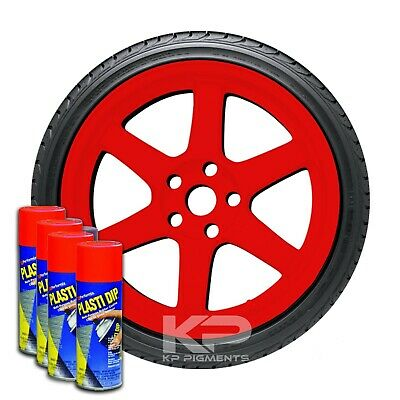 4pack Performix Plasti Dip Red Rubber Coating Spray Aerosol Cans Wheels Kit 11oz