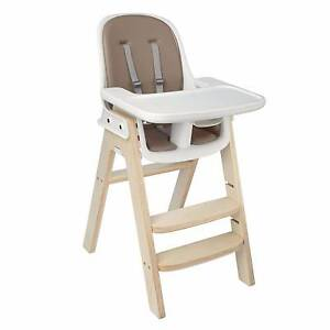 Oxo Tot Sprout highchair Taupe/Birch. Solid timber frame Gilberton Walkerville Area Preview