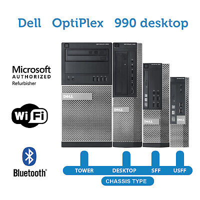 Dell Desktop Computer PC 990🚩16GB 2TB HD 480GB NEW SSD🚩Quad Core i5 Win WiFi💻