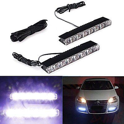 Universal Daytime Running Fog Light 6 LED White Car Driving Lamp Waterproof DRL