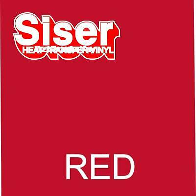 15 X 5 Ft Roll - Red - Siser Easyweed - Heat Transfer Vinyl Iron On 4 T Shirt