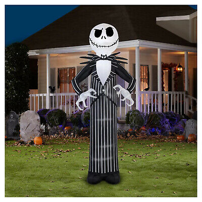 "120"" Jack Skellington Giant Inflatable Nightmare before Christmas Yard Decor"