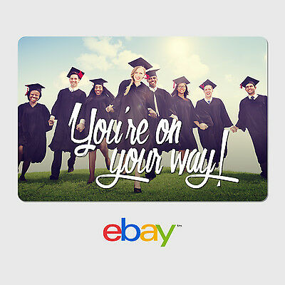 Personalized eBay Gift Cards - Graduation Designs - $25 to $100 - Email Delivery