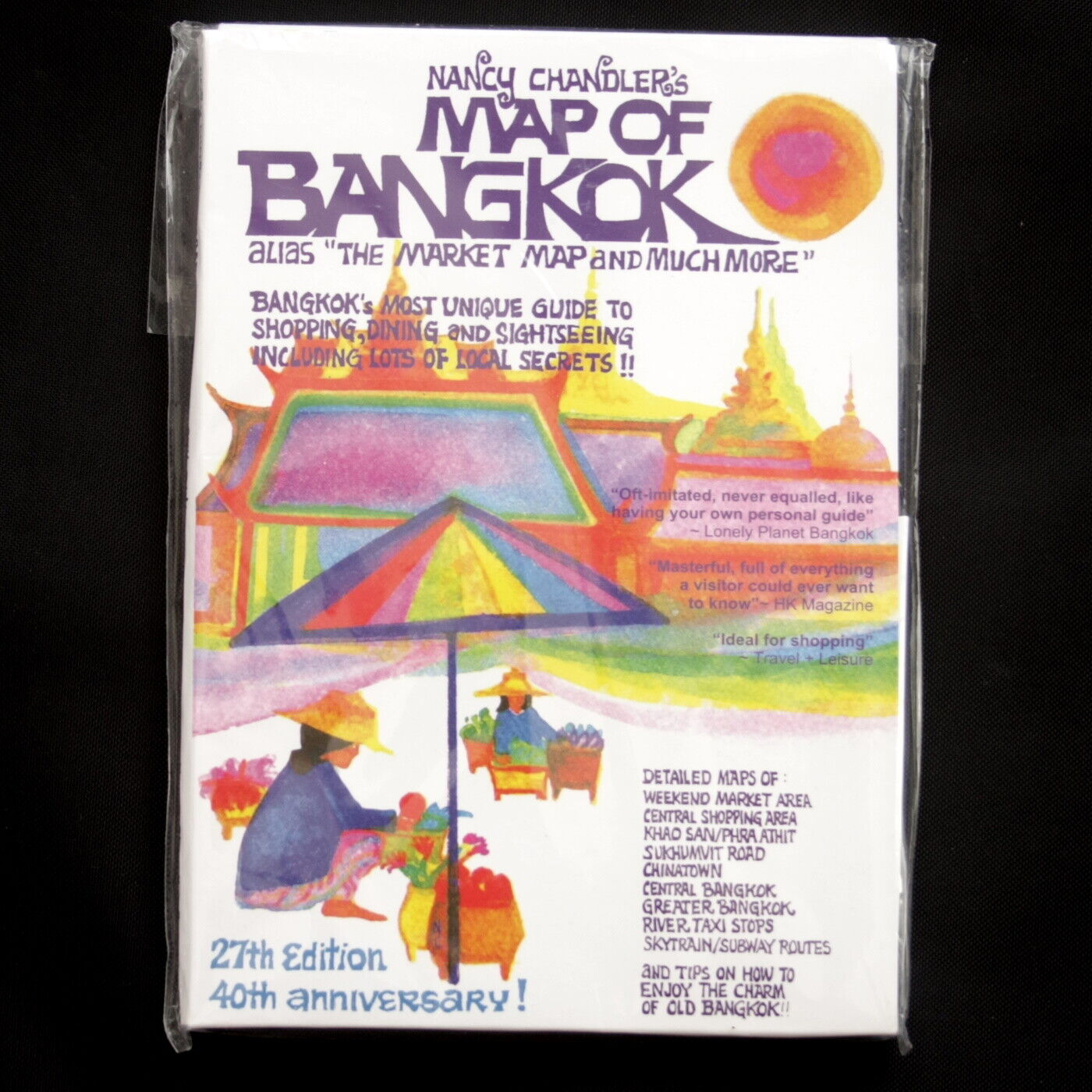 Nancy Chandlers Map Of Bangkok 40th Anniversary 27th Edition NEW In Package - $25.59