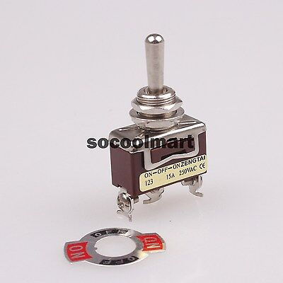 1pcs Ac 15a 250v Panel Mount 3 Position On-off-on Momentary Spdt Toggle Switch