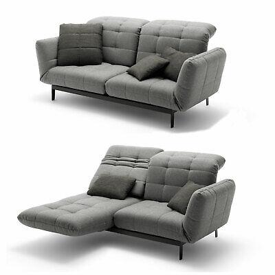 Agio Möbel (Sofa ROLF BENZ AGIO 342 Komfort- Relaxfunktion 2-Sitzer Stoff silbergrau)
