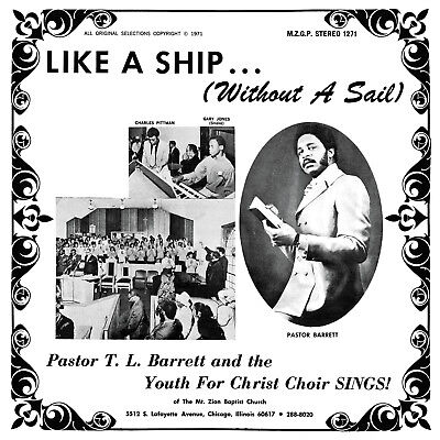 Pastor T L Barrett   Youth For Christ Choir Like A Ship Vinyl Lp Record  Tl New