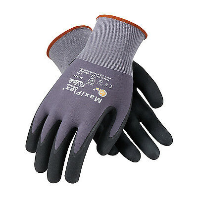 PIP MaxiFlex Ultimate Nitrile Micro-Foam Coated Gloves LARGE 6 pair (34-874/L)