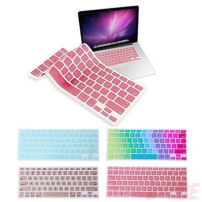 "Metallic Finish Silicone Keyboard Skin Film Cover for MacBook Mac Pro 13"" 15"" 17"