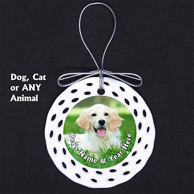 Pet Dog Cat Horse Custom Photo Porcelain Ornament Gift New Memorial