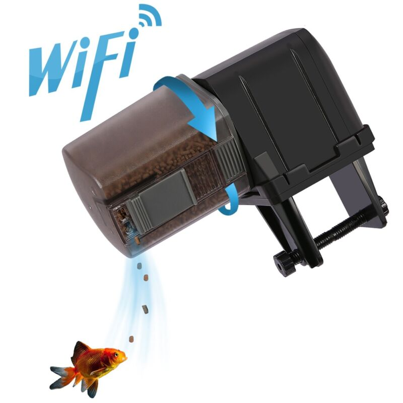Automatic Fish Feeder WIFI Enabled Aquarium Smart Device with Programmable App