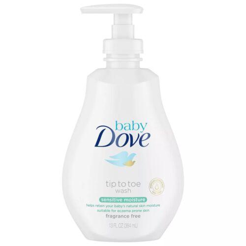 Baby Dove Sensitive Moisture Tip-to-Toe Fragrance-Free Wash - 13oz