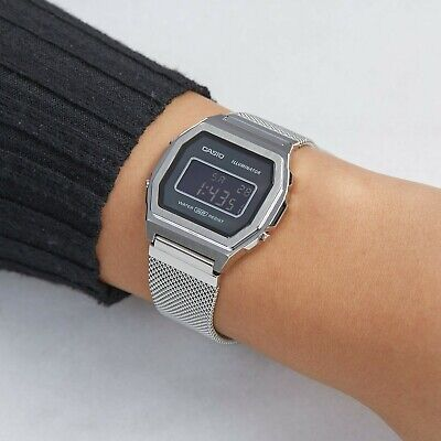 Casio Vintage Digital Watch A1000M Stainless Steel