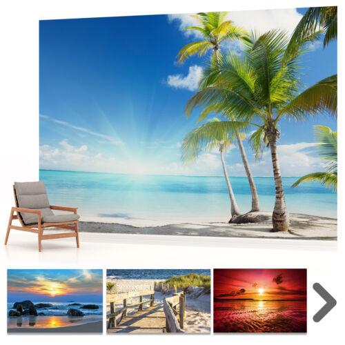 FOTOTAPETE WANDBILD FOTOTAPETEN BILD TAPETE Strand Meer Sonnenuntergang VLIES VE