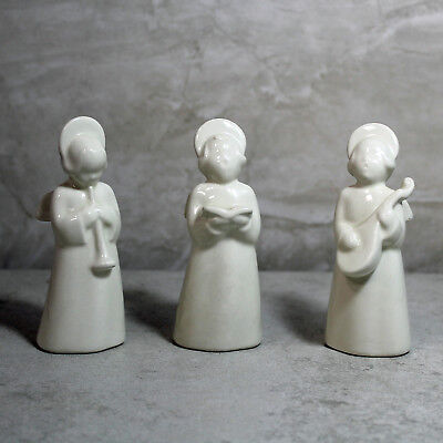 Royal Copenhagen porcelain angel set of three musicians white Denmark